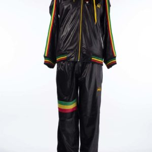 Shiny Raw Blue Tracksuit Plain Black Red Yellow Green (Medium)
