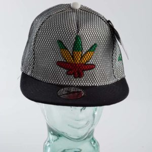 White Netted Leaf Raw Blue Snapback