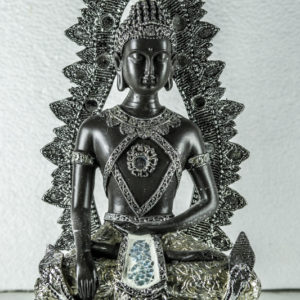 Black and silver Buddha Thai ornament