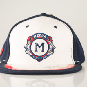 White and blue Mecca cap