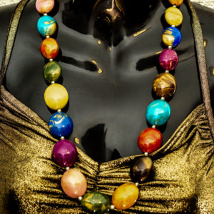 Large Beaded Necklace Muliticoloured