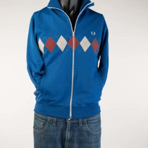 Light Blue Fred Perry Track Top (small)