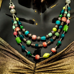 Mixed-stone Beads Necklace