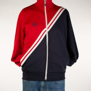 Sergio Tacchini Red and Blue Track Top (Large)