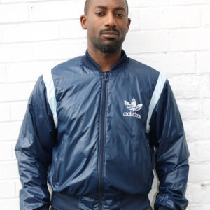 Dark blue Adidas Track Top (Medium)