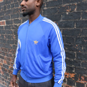 Blue Adidas Track Top (medium)