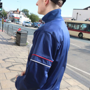 Blue Vintage Fila Track Top (medium)