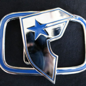Famous Blue Metallic Belt Buckle