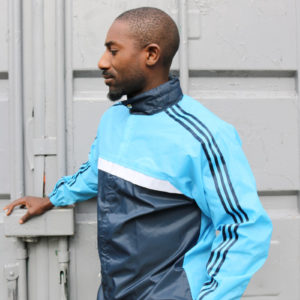 Blue Waterproof Adidas Track Top(medium)