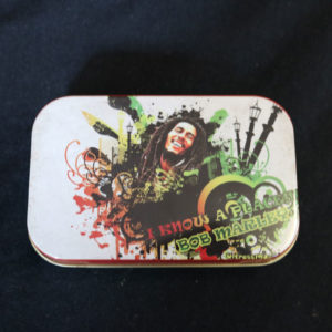 White Bob Marley Tobacco Tin