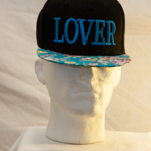 Sissel Black Lover Snapback with flower print