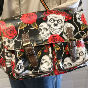 Gothic Rose and Skull Bag